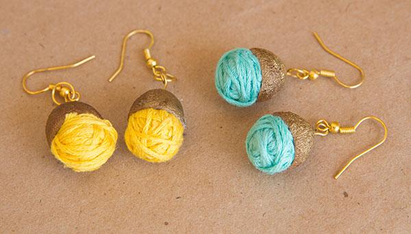 Acorn Earrings Diy And Di Wine