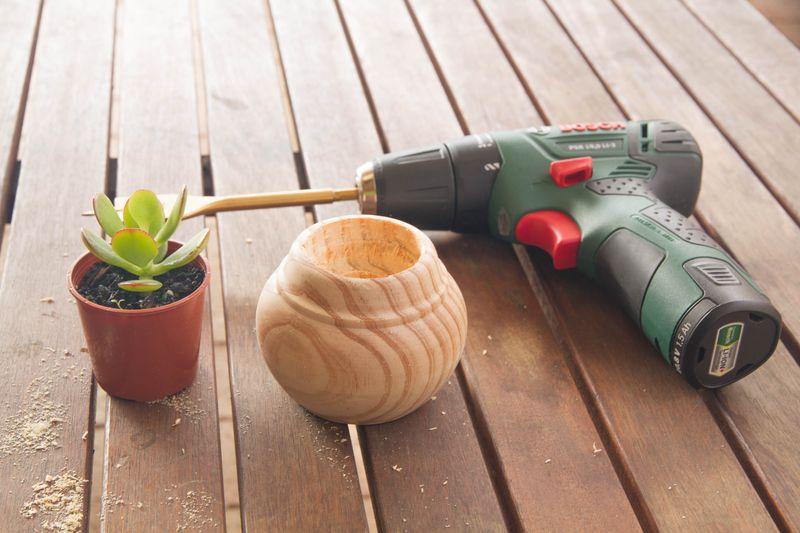 Succulent Wood Planter-3